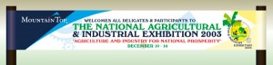 Banner for National Agricultural & Industrial Exhibition, SVG